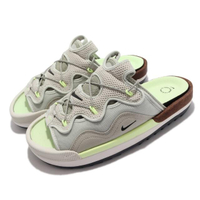【NIKE 耐吉】拖鞋 Offline 2.0 厚底 舒適 男女鞋 半包拖鞋 軟木塞 多層次鞋面 輕便 淺卡其 綠(CZ0332-002)