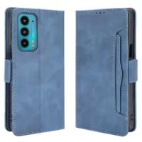 For Motorola Edge 20 2021 Protective Flip Case Leather Removable Card Slot Cover Motorola Edge 20 Case Moto Edge20 Wallet Funda