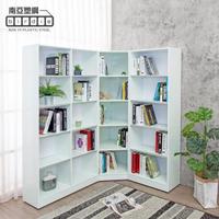 【南亞塑鋼】6.9尺L型開放式收納書櫃組合(2尺書櫃+1.9尺轉角書櫃+3尺書櫃)