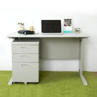 【時尚屋】CD140灰色辦公桌櫃組(UA8-S394-10+S400-6)