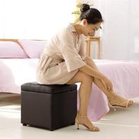 收納椅實木服裝店長方形沙發換鞋凳鞋柜床尾儲物凳收納椅成人試衣間凳子