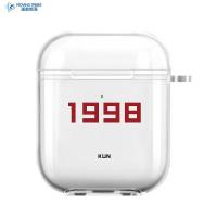 魏大勛同款airpods保護套2代1簡約AirPods Pro三代3適用于蘋果無線藍牙耳機軟殼透明文字定制情侶老年助聽器