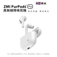 ZMI紫米PurPods Pro 真無線藍牙5.2降噪耳機ANC單雙耳可用無線充電USB-C防水潑濺小愛同學TW-100