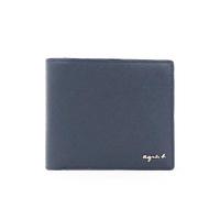 【agnes b.】Voyage 防刮皮革零錢格短夾 深藍