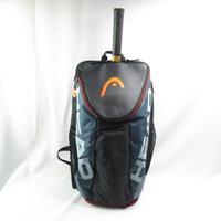 HEAD TOUR TEAM 運動後背包 網球袋 兩側拉鍊 可裝水壺 283170BKGR 黑銀【iSport愛運動】