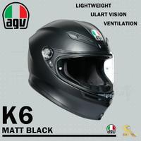 任我行騎士部品 AGV K6 極輕量化 通風 舒適 全新設計 全罩式安全帽 MATT BLACK 消光黑 K-6