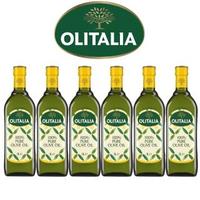 【Olitalia 奧利塔】純橄欖油1000mlx6瓶(禮盒組)-週期購