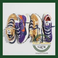 限量代購Sacai x Nike Vaporwaffle 藍紫 卡其 男鞋女鞋DD1875-200 DD1875-500