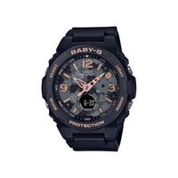 【CASIO 卡西歐】卡西歐 BABY-G 花卉風格雙顯手錶(黑 BGA-260FL-1A)