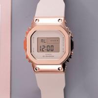 卡西歐手錶女新款g shock系列玫瑰金ins輕奢格調電子錶GM-S5600PG