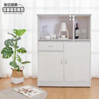 【南亞塑鋼】3.2尺二門一抽二拉盤塑鋼電器櫃/收納餐櫃(大理石灰)