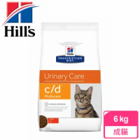 【Hills 希爾思】貓用C/D Multicare泌尿道健康-6kg(CD處方飼料)