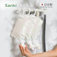 【日本Sanki】日製補充包專用定量擠壓器-3入組-附掛架 (沐浴乳 洗髮精 潤髮乳補充包適用 免倒罐 三輝 專用壓頭 eco 減塑 環保 可重複)