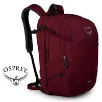 【Osprey 美國】NOVA 32 電腦背包 15吋筆電背包 城市背包 旅行背包 女款 鯡魚紅〈容量32L〉(Nova32)