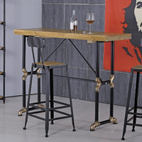 【AT HOME】蓋爾4.6尺長方水管洽談桌/休閒桌/吧台桌/餐桌