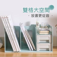 【AOTTO】馬卡龍多功能桌上收納書架(桌上收納架 書架 置物架 增高架)