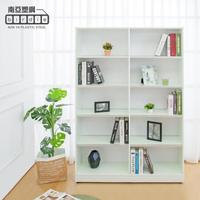 【南亞塑鋼】4尺開放式10格防水塑鋼書櫃/十格收納櫃/展示櫃(白色)