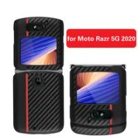 Luxury Case for Motorola Razr 5G All-inclusive Shockproof Cover Carbon Fiber Pattern Phone Shell for Moto Razr 5G 2020 Case