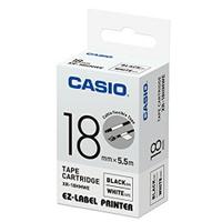 CASIO 標籤機專用特殊色帶-18mm 白底黑字XR-18HMWE(5.5公尺)【AE11185】i-Style居家生活