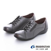 【MOONSTAR 月星】拇指外翻系列-4E寬楦拇指外翻休閒鞋(銀灰)