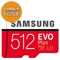 【SAMSUNG 三星】EVO PLUS microSDXC 512GB U3 100MB/s記憶卡(平行輸入)
