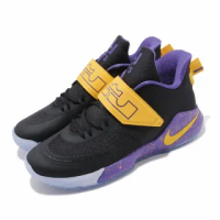 【NIKE 耐吉】籃球鞋 Ambassador XII 運動 男鞋 避震 包覆 明星款 球鞋 穿搭 LBJ 黑 黃(BQ5436-003)