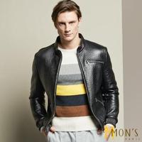 【MON'S】狂野個性男羊皮衣/外套(100%羊皮)