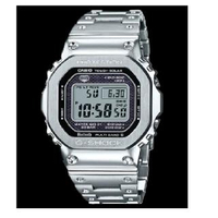 【CASIO 卡西歐】G-SHOCK太陽能電波藍牙電子錶/銀(GMW-B5000D-1)