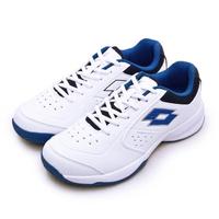【LOTTO】男 全地形入門級網球鞋 SPACE 600系列 附贈藍色鞋帶(白藍 2236)