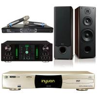 【音圓】卡拉OK伴唱機 4TB硬碟+擴大機+無線麥克風+喇叭(S-2001 N2-150+A-250+MR-865 PRO+OKAUDIO OK-801)