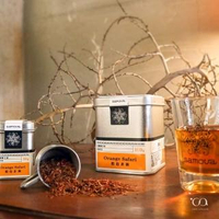 【samova 歐洲時尚茶飲】博士茶/無咖啡因/Orange Safari橙色非洲(Tea Tin Mini系列)