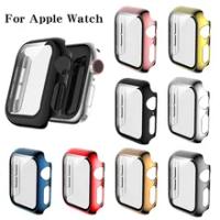 แก้ว + ฝาครอบสำหรับ Apple Watch Case Series 6 SE 5 4 3 2กรณี IWatch Accessor 44 40มม.42มม.38มม.Protector Apple Watch