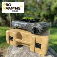 【Pro Kamping 領航家】4.1kW TANK卡式爐 二代升級版X4100-II 附硬盒(防風單口爐 卡式爐 露營瓦斯爐)