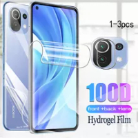 xaomi mi 11 lite hydrogel film for xiaomi mi 11 lite mi11 light 11lite front back screen protector camera film glass mi11lite
