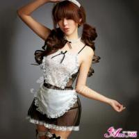 【Anna Mu】生活情趣!性感柔紗七件式女僕裝