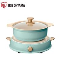 日本Iris Ohyama ricopa IH料理電磁爐組 含陶瓷鍋 福利品
