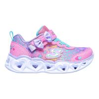 SKECHERS【302088NHPMT】Heart Lights 小童鞋 運動鞋 電燈鞋 愛心 豹紋 蝴蝶結 粉水藍紫