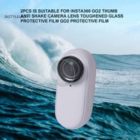 適用於 Insta360 GO2 的 Ly 2Pcs 保護膜耐熱全邊透明高清微型相機屏幕膜