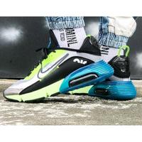 【日本海外代購】NIKE AIR MAX 2090 孔雀藍 藍綠 氣墊 螢光綠 半透明 慢跑 男鞋 BV9977-101