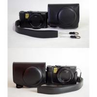 LULU數位~Panasonic DMC-LX10 專用 兩件式手工皮套 附肩背帶 相機包 LX10 復古包