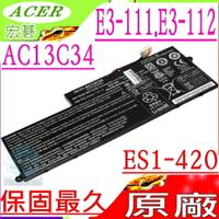 ACER AC13C34 電池(原廠)-宏碁 Aspire E-11,E3-111,E3-112,ES1-420,MS2377,31CP5/60/80,3ICP5/60/80