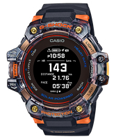 【CASIO卡西歐】 G-SHOCK 心率偵測 GPS定位 藍牙太陽能運動錶 - 透明黑x橘 (GBD-H1000-1A4)
