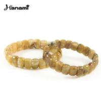 【Hanami】財富滿滿天然鈦晶板珠手鍊