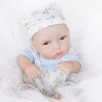 Manusia Hidup 10 Inch Bayi Prematur BEBE Reborn Boneka Full Body Silikon Kecil BEBE Boneka Dicat Putri Rambut Toy untuk Kid Natal hadiah
