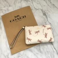 美國百分百【全新真品】 Coach F23674 PVC 手拿包 女用 短夾 短夾 錢包 皮包 零錢包 女款 C850