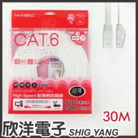 ※ 欣洋電子 ※ Magic 鴻象 Cat6 High-Speed 超薄網路線30米/30M (CAT6F-30)/台灣製造