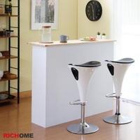 【RICHOME】流線型時尚吧台椅/高腳椅/休閒椅/餐椅(2色)