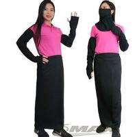 【OMAX】透氣防曬袖套 +防曬裙+護頸口罩-黑色(3件組合-速)