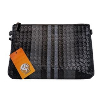 【Lionel】黑灰白相間編織紋手拿包(簡約、經典、男士手拿包)