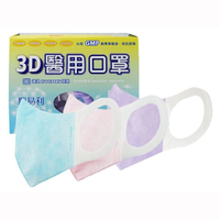順易利 成人3D立體醫用口罩(50入)素色紫/素色藍/素色粉紅 款式可選【小三美日】醫療口罩 DS001526